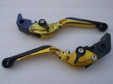 KTM 690 DUKE (08-11), CNC levers fold/extend gold/black adjusters, F11/M11